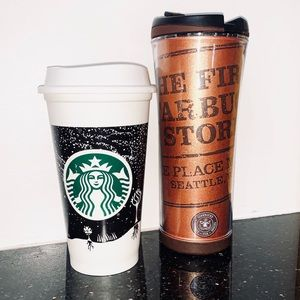 set of 2 Starbucks Travel Mugs
